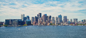 Εικονική παράσταση πόλης της Βοστώνης Στοκ Φωτογραφία