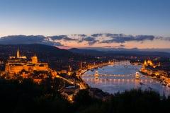 Εικονική παράσταση πόλης της Βουδαπέστης στοκ φωτογραφίες