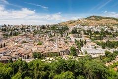 Εικονική παράσταση πόλης της Γρανάδας, Ανδαλουσία, Ισπανία Στοκ Φωτογραφίες