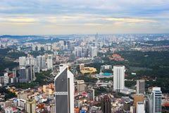 Εικονική παράσταση πόλης της Κουάλα Λουμπούρ, Μαλαισία Στοκ Εικόνα