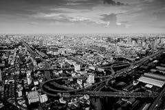 Εικονική παράσταση πόλης της Μπανγκόκ στο αναδρομικό ύφος Στοκ φωτογραφίες με δικαίωμα ελεύθερης χρήσης
