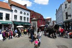 Εικονική παράσταση πόλης της Μπρυζ, Βέλγιο Στοκ εικόνες με δικαίωμα ελεύθερης χρήσης