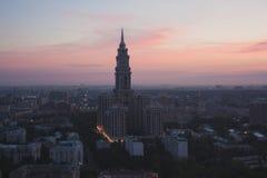 Εικονική παράσταση πόλης της Μόσχας Στοκ εικόνα με δικαίωμα ελεύθερης χρήσης