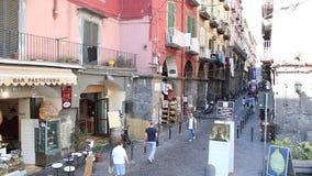 Εικονική παράσταση πόλης της Νάπολης και του κόλπου του απόθεμα βίντεο