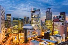 Εικονική παράσταση πόλης της Οζάκα Ιαπωνία Στοκ Εικόνες