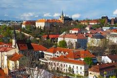 Εικονική παράσταση πόλης της Πράγας, δημοκρατία ελέγχου στοκ φωτογραφία με δικαίωμα ελεύθερης χρήσης