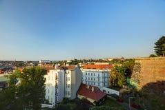 Εικονική παράσταση πόλης της Πράγας στον αργά το απόγευμα ήλιο, Τσεχία Φωτογραφία που λαμβάνεται σε Vysehrad στοκ εικόνες με δικαίωμα ελεύθερης χρήσης