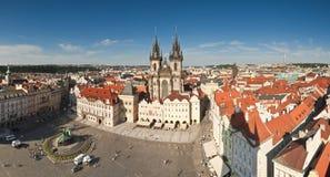 Εικονική παράσταση πόλης της Πράγας Στοκ εικόνα με δικαίωμα ελεύθερης χρήσης