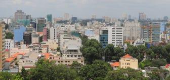 Εικονική παράσταση πόλης της πόλης του Ho Chi Minh Στοκ εικόνα με δικαίωμα ελεύθερης χρήσης