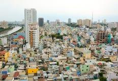 Εικονική παράσταση πόλης της πόλης του Ho Chi Minh Στοκ Φωτογραφία