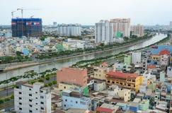 Εικονική παράσταση πόλης της πόλης του Ho Chi Minh Στοκ φωτογραφίες με δικαίωμα ελεύθερης χρήσης