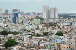 Εικονική παράσταση πόλης της πόλης του Ho Chi Minh Στοκ Εικόνες