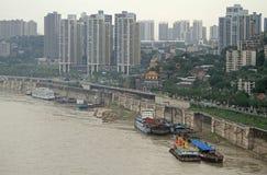 Εικονική παράσταση πόλης της πόλης Chongqing, Κίνα Στοκ Φωτογραφία