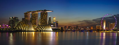 Εικονική παράσταση πόλης της Σιγκαπούρης Στοκ εικόνες με δικαίωμα ελεύθερης χρήσης