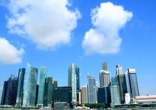 Εικονική παράσταση πόλης της Σιγκαπούρης Στοκ φωτογραφία με δικαίωμα ελεύθερης χρήσης