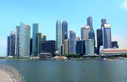 Εικονική παράσταση πόλης της Σιγκαπούρης Στοκ Φωτογραφίες