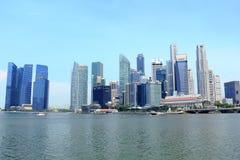Εικονική παράσταση πόλης της Σιγκαπούρης Στοκ Εικόνες