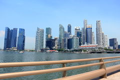 Εικονική παράσταση πόλης της Σιγκαπούρης Στοκ φωτογραφίες με δικαίωμα ελεύθερης χρήσης