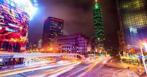Εικονική παράσταση πόλης της Ταϊπέι στο λυκόφως στην πόλη της Ταϊβάν φιλμ μικρού μήκους