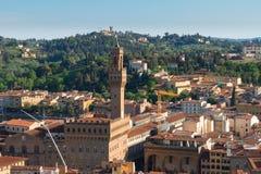 Εικονική παράσταση πόλης της Φλωρεντίας με το palazzo Vecchio Στοκ Εικόνα