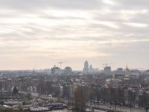 Εικονική παράσταση πόλης του Άμστερνταμ Στοκ Φωτογραφίες