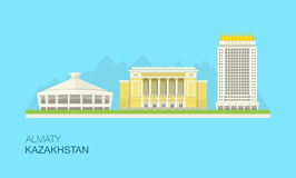 Εικονική παράσταση πόλης του Αλμάτι, Καζακστάν Στοκ εικόνες με δικαίωμα ελεύθερης χρήσης