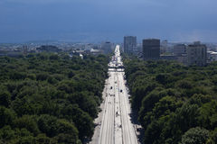 Εικονική παράσταση πόλης του Βερολίνου με το πάρκο Tiergarten στο πρώτο πλάνο στοκ φωτογραφίες με δικαίωμα ελεύθερης χρήσης