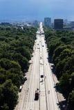 Εικονική παράσταση πόλης του Βερολίνου με το πάρκο Tiergarten στο πρώτο πλάνο στοκ φωτογραφίες