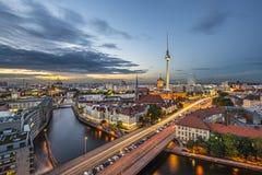 Εικονική παράσταση πόλης του Βερολίνου Στοκ Εικόνες