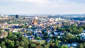 Εικονική παράσταση πόλης του Βισμπάντεν στη Γερμανία στοκ φωτογραφία