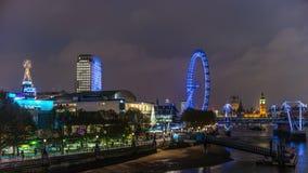 Εικονική παράσταση πόλης του Λονδίνου στο σούρουπο, απόθεμα βίντεο