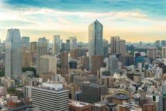 Εικονική παράσταση πόλης του ορίζοντα του Τόκιο, εικονική παράσταση πόλης πόλεων της Ιαπωνίας στο λυκόφως - Τ Στοκ Φωτογραφία
