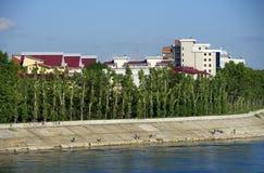 Εικονική παράσταση πόλης του ποταμού του Ιρκούτσκ και Angara Στοκ φωτογραφία με δικαίωμα ελεύθερης χρήσης