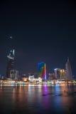 Εικονική παράσταση πόλης του Ho Chi Minh τη νύχτα Στοκ εικόνα με δικαίωμα ελεύθερης χρήσης
