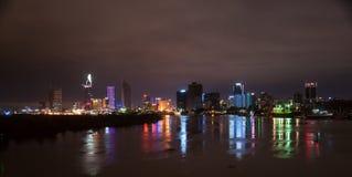 Εικονική παράσταση πόλης του Ho Chi Minh τη νύχτα Στοκ φωτογραφία με δικαίωμα ελεύθερης χρήσης