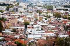 Εικονική παράσταση πόλης του Tbilisi Στοκ εικόνα με δικαίωμα ελεύθερης χρήσης