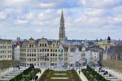 Εικονική παράσταση πόλης των Βρυξελλών Στοκ Φωτογραφία