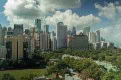 Εικονική παράσταση πόλης Χονγκ Κονγκ στην ημέρα Στοκ φωτογραφία με δικαίωμα ελεύθερης χρήσης