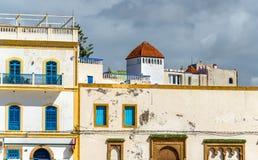 Εικονική παράσταση πόλης Essaouira, μια περιοχή παγκόσμιων κληρονομιών της ΟΥΝΕΣΚΟ στο Μαρόκο Στοκ εικόνα με δικαίωμα ελεύθερης χρήσης