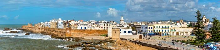 Εικονική παράσταση πόλης Essaouira, μια περιοχή παγκόσμιων κληρονομιών της ΟΥΝΕΣΚΟ στο Μαρόκο Στοκ Εικόνα