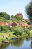 Εικονική παράσταση πόλης Havelberg με τον ποταμό Havel Στοκ εικόνα με δικαίωμα ελεύθερης χρήσης