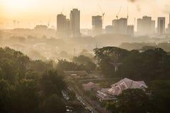 Εικονική παράσταση πόλης Johor Bahru Στοκ φωτογραφία με δικαίωμα ελεύθερης χρήσης