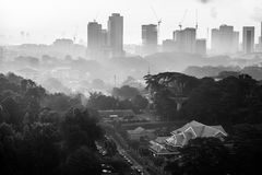 Εικονική παράσταση πόλης Johor Bahru Στοκ φωτογραφίες με δικαίωμα ελεύθερης χρήσης