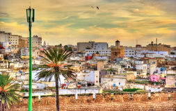 Εικονική παράσταση πόλης Safi, μια πόλη στο δυτικό Μαρόκο στον Ατλαντικό Ωκεανό Στοκ Εικόνες