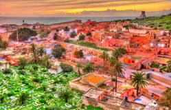 Εικονική παράσταση πόλης Safi, μια πόλη στο δυτικό Μαρόκο στον Ατλαντικό Ωκεανό Στοκ Εικόνα