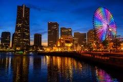 Εικονική παράσταση πόλης Yokohama τη νύχτα, Minato Mirai Στοκ εικόνα με δικαίωμα ελεύθερης χρήσης