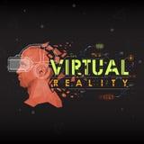 Εικονική πραγματικότητα Εγγραφή με τα φουτουριστικά στοιχεία ενδιάμεσων με τον χρήστη Στοκ φωτογραφία με δικαίωμα ελεύθερης χρήσης