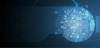 Εικονική πραγματικότητα στο μελλοντικό υπόβαθρο τεχνολογίας ζωής Στοκ Εικόνα