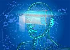 Εικονική πραγματικότητα Στοκ εικόνες με δικαίωμα ελεύθερης χρήσης