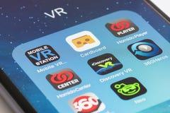 Εικονική πραγματικότητα apps για το smartphone Στοκ φωτογραφία με δικαίωμα ελεύθερης χρήσης